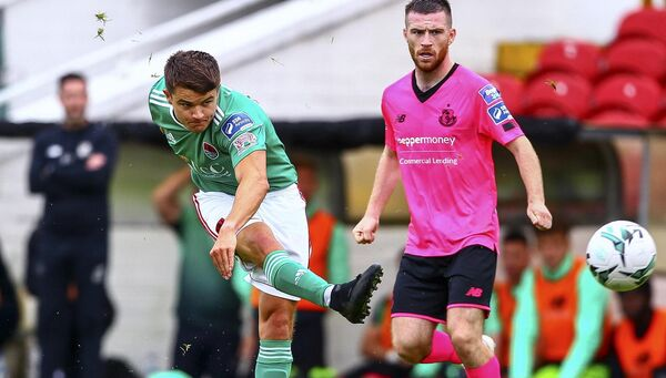 Cork City's Daire O'Connor shoots on goal. Picture: INPHO/Ken Sutton