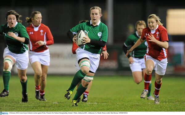 Laura Guest in action against Wales. Picture: Matt Browne/SPORTSFILE