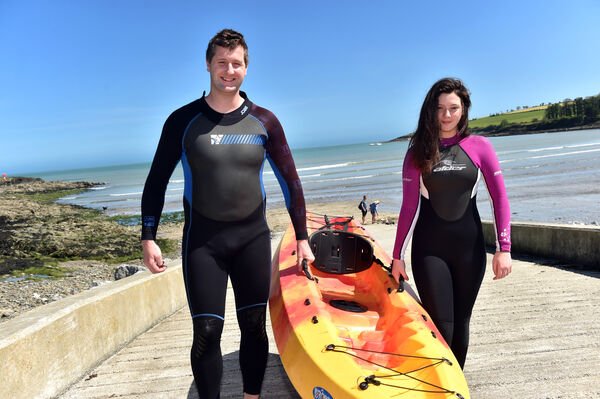 Colin and Alexis Lawless from Fountainstown enjoying the sunshine at Fountainstown beach in Co. Cork yesterday.Picture: Eddie O'Hare