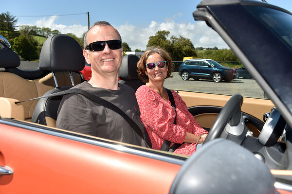Andrew and Rose Barrett, Crosshaven with their open top car enjoying the sunshine at Fountainstown beach in Co. Cork yesterday.Picture: Eddie O'Hare