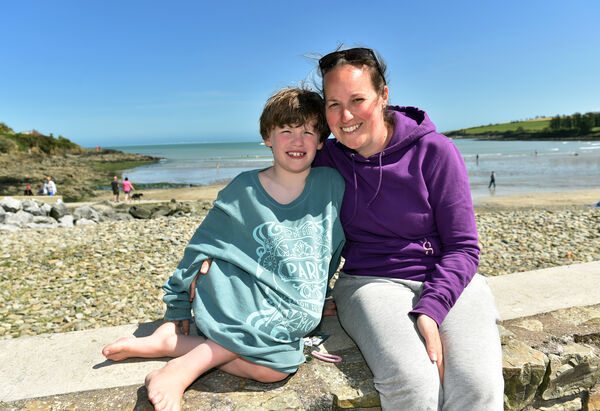 Emily and Harry Clifford enjoying the sunshine at Fountainstown beach in Co. Cork yesterday.Picture: Eddie O'Hare