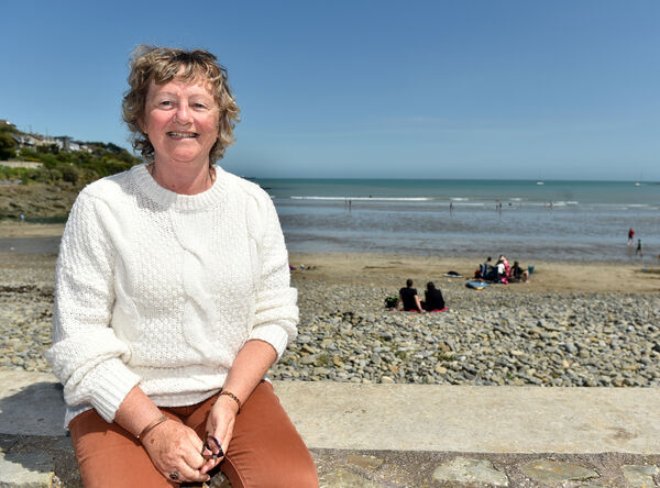 Terri Drennan, Fountainstown enjoying the sunshine at Fountainstown beach in Co. Cork yesterday.Picture: Eddie O'Hare