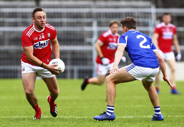 Paul Kerrigan and Stephen Attride of Laois. Picture: INPHO/Ken Sutton