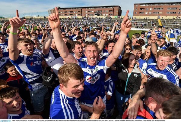 Laois celebrate beating Dublin last year. Picture: Sam Barnes/Sportsfile