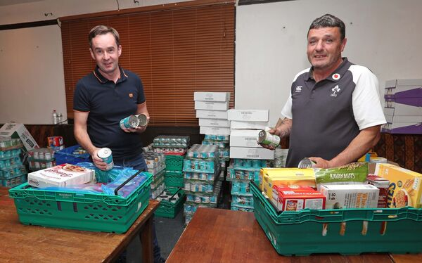 Cork Penny Dinners Volunteers, David McSweeney and Kevin Connolly. Picture: Jim Coughlan.