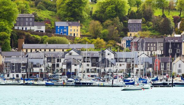 Kinsale Harbour, Cork City. Stock image.