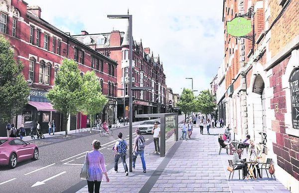 Drawings of the changes planned for MacCurtain Street and the surrounding area, with proposals in place for improved pedestrian, cycling and public transport facilities.