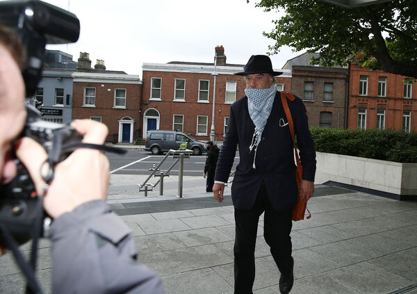 Ian Bailey (63), with an address at The Prairie, Liscaha, Schull, West Cork, pictured arriving to the High Court today for his extradition hearing. Pic Collins Courts