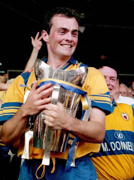 Clare captain Anthony Daly with the cup after beating Limerick in 1995. Picture: INPHO/Tom Honan