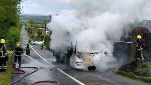 Caution advised following truck fire outside Cork city