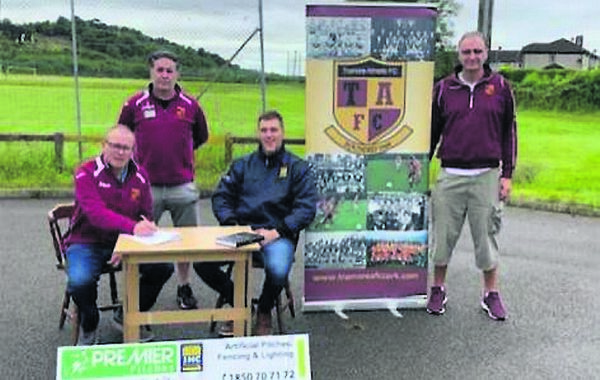Tramore Athletic Project Team: Paul O'Connell, Jason Blessing, Adrian Cummins, Premier pitches, and Derek O'Gorman.