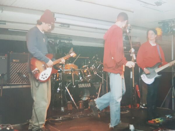Soundcheck at Trinity College in 1992.