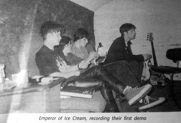 Emperors Of Ice Cream recording their first demo at Sun Studio in Dublin.
