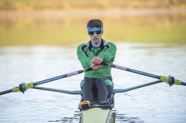 Fintan McCarthy at the rowing centre.