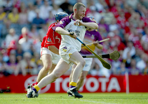 Damien Fitzhenry of Wexford bursts out against Cork. Picture: INPHO/Morgan Treacy