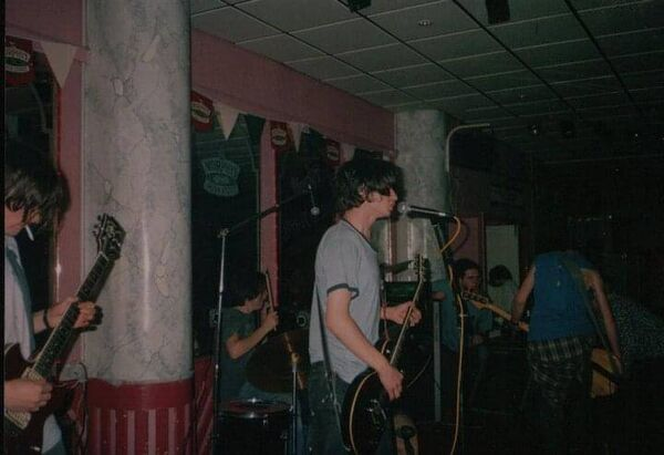 The Shanks on stage in the 90s.