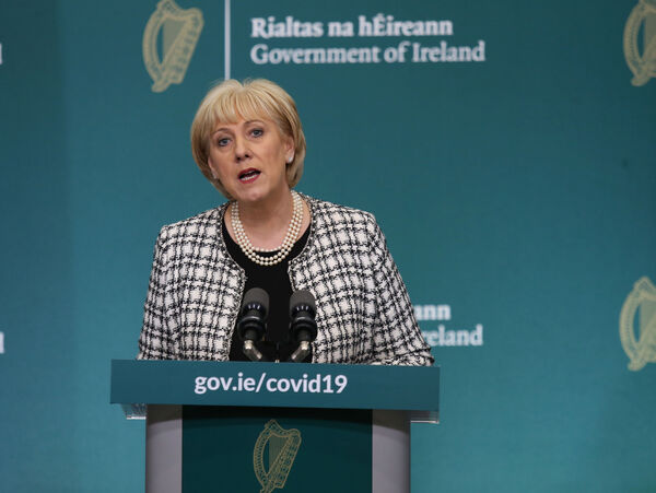 The Minister for Business, Enterprise and Innovation, Heather Humphreys said almost the entire workforce in the accommodation and food sector are on Government wage supports. Photo: Leon Farrell/Photocall Ireland