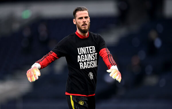 Manchester United goalkeeper David de Gea conceded a soft goal against Spurs. Picture: Shaun Botterill/PA Wire/NMC Pool.