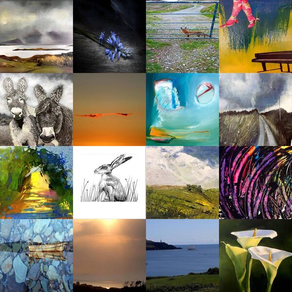 A montage of some of the work by the Cork artists.