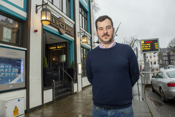 Publican Ernest Cantillon outside his Electric Bar and Restaurant on the South Mall, Cork. He has chosen not to reopen for the Christmas period this year. Picture Dan Linehan