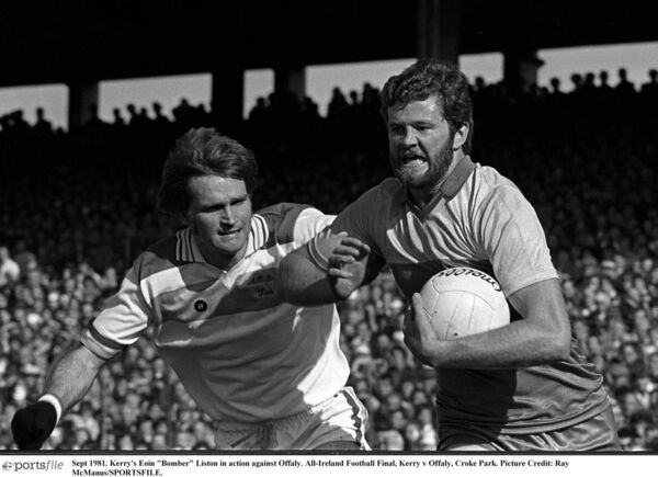 Kerry's Eoin 'Bomber' Liston in action against Offaly in the All-Ireland final in 1981. Picture: Ray McManus/SPORTSFILE