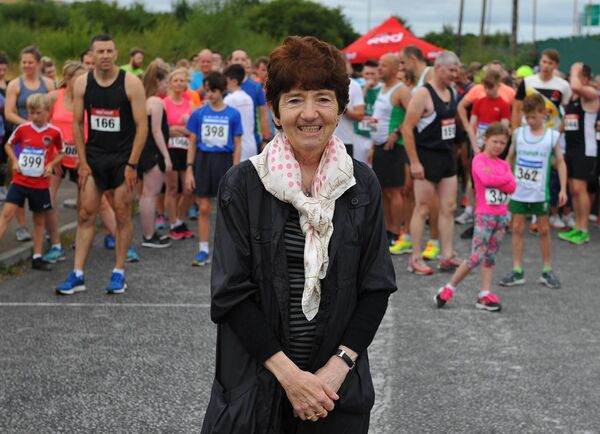 Bridie Miller pictured at the start line ahead of the 2018 Liam Miller 5K Memorial Run. Picture: Doug Minihane