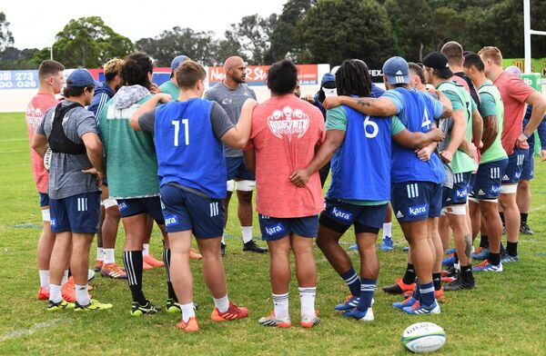 Blues rugby training at Alexandra Park, Auckland, New Zealand. Picture: INPHO/Photosport/Andrew Cornaga