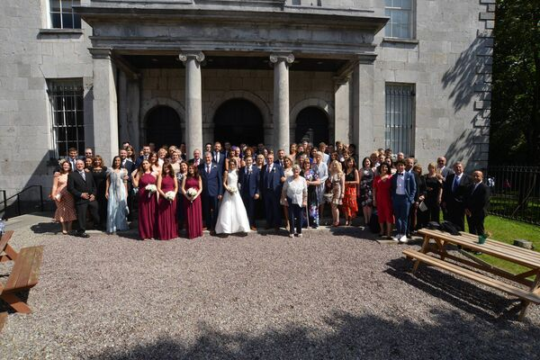 They were wed in the Triskel Arts Centre, Cork City.