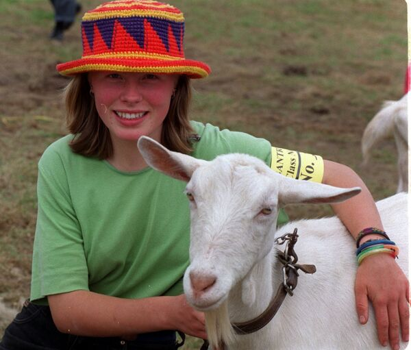 Ciara O'Flynn from Kealkil with her goat at Bantry Agricultural Show.