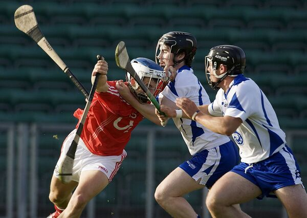 Former Cork hurler Luke O'Farrell taking on Waterford's Shane Kearney and Noel Connors in an U21 game. He was last involved with the seniors three years ago. Picture: INPHO/Neil Danton