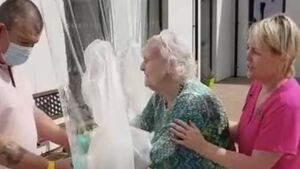 'Hugging machine' at Cork nursing home allows families to embrace after months of being apart