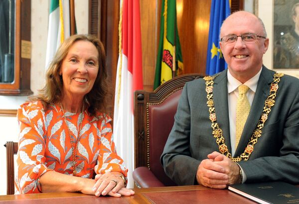 Cllr. Joe Kavanagh, Lord Mayor of Cork, and Stephanie Kavanagh, Lady Mayoress of Cork.Picture Denis Minihane.