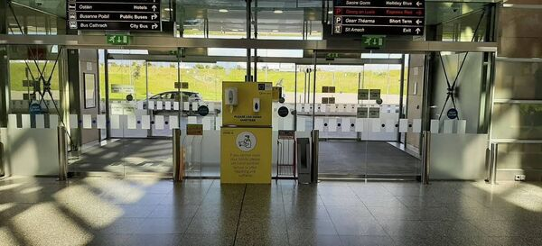 Cork Airport with new health and hygiene measures introduced to safeguard staff and passengers from Covid-19.
