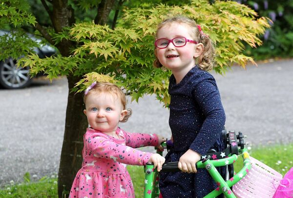Ellie and Eve at their home in Carrigaline, Co. Cork.Picture: Jim Coughlan.