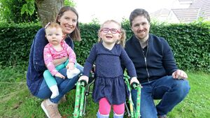 Carrigaline family hoping to raise €100k in ten weeks to fund operation that will help little Ellie walk