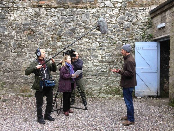 Framework Films filming in Elizabeth Fort, Cork city.