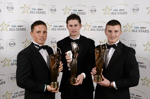 2012 All-Stars: Anthony Nash, Seamus Harnedy and Patrick Horgan.