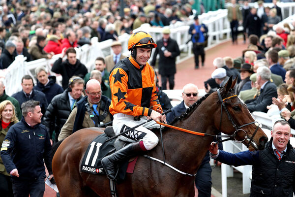 Jockey Aidan Coleman on Put The Kettle On. Picture: Andrew Matthews/PA Wire.