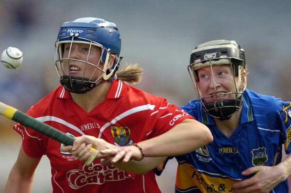 Emer Dillon breaking past Una O'Dwyer of Tipperary. Picture: Dan Linehan