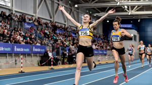Healy sisters and Louise Shanahan fly the Cork flag at Indoor Championships