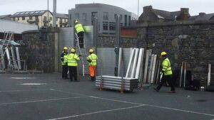 Flood barriers erected across county Cork as a 'precaution' for duration of Covid-19 restrictions