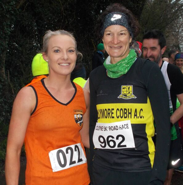 Claire O'Brien, winner of the Cloyne 4km, pictured with Sonia O'Sullivan. Picture: John Walshe