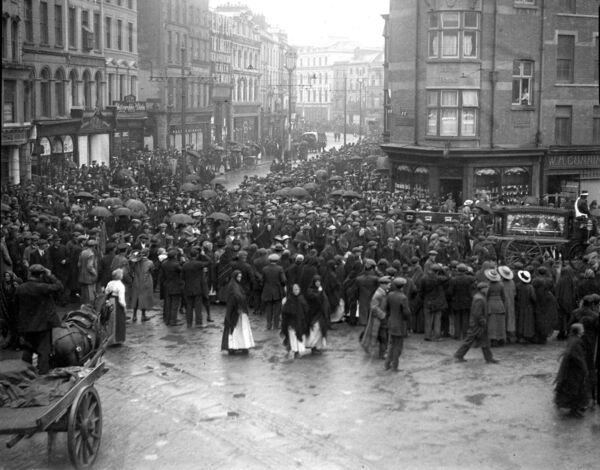 Funeral procession at Daunt's Square, Cork during Irish War of Independence period circa 1920