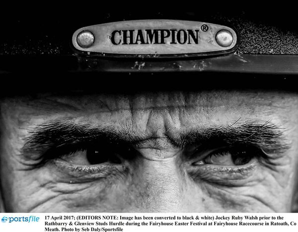 Jockey Ruby Walsh prior before the Fairyhouse Easter Festival in 2017. Picture: Seb Daly/Sportsfile