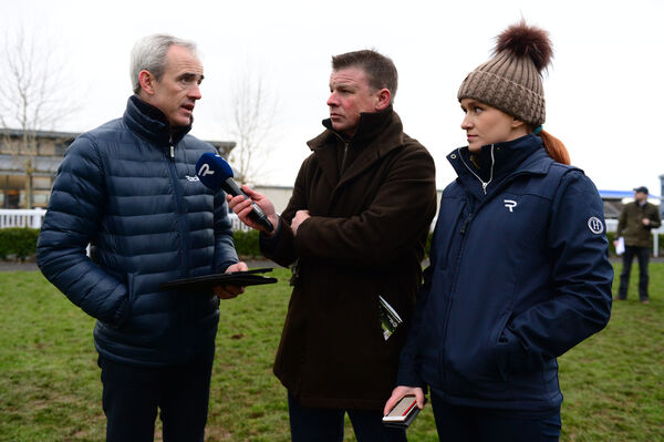 Pundits Ruby, Kevin O'Ryan and Jane Mangan. Picture: Healy Racing.