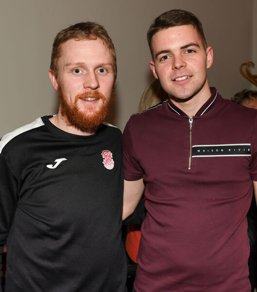 John Forrest and Lucas Keating, both coaching staff, at the Cobh Ramblers official launch of their 2020 League of Ireland season, at the Metropole Hotel. Picture: David Keane.