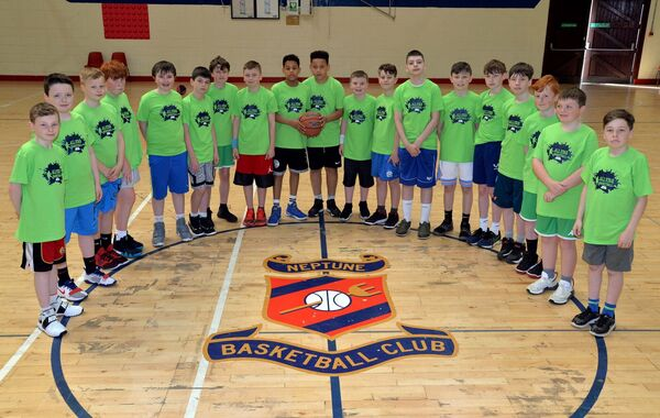The Neptune U12 squad at the All-Star Basketball Easter Camp last year. Picture: Denis Minihane.