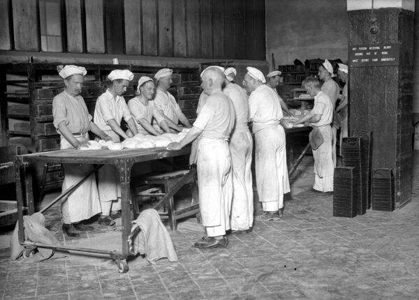 Night workers at Hosford's Bakery, South Terrace, Cork in 1936.