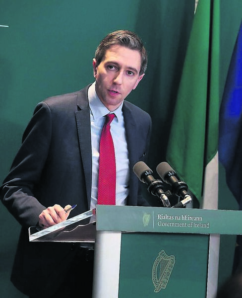 Health Minister Simon Harris yesterday announced an unprecedented recruitment drive for the health service to meet the demand for health professionals to tackle the spread of Covid-19. Picture: Brian Lawless