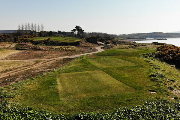 The clearance in front of the fifth tee in Cork has opened up views of the fairway as well as the water stretching into the distance.Picture: Niall O'Shea
